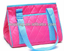Promotion nylon candy color food cooler bag for frozen products insulated lunch bag hot sale