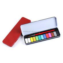 13 color solid watercolor paint