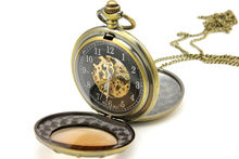 Antique style vintage mechanical movement pocket watches