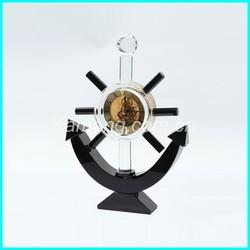 High quality crystal table clock, table decoration clock