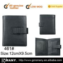 genuine leather women cow-hide men's/male business wallet/casual practical purse bi-fold /two fold clip leather wallet
