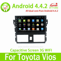 Full Touch Capacitive Screen Android 4.4 2014 New Toyota Vios Car DVD Player