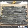 Natural black quartzite stone corner