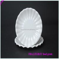 Wholesale melamine different shapes dinner plates dishes /white restaurant melamine dinner plate/irregular shaped dish and plat