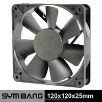 D12025-K 120mm 12v 24v dc temperature controlled exhaust fan