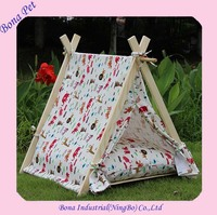 Hot Sale Wood Outdoor Dog Bed Tent with Mattress