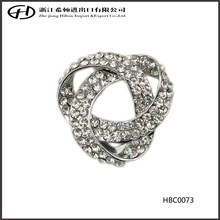 The latest design rhinestone crystal dual use brooch for apparel and scarves