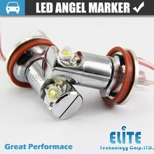 BRIGHT WHITE H8 E92 6W LED tube Angel Eyes Auto Tuning Lights