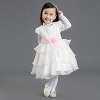 Wholesale short sleeve multi-layer new arrival pricess baby dress 1-4y free shipping