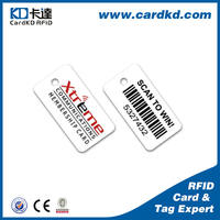 plastic material custom key fobs with barcode