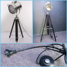 new lamp old wooden large tripod floor lamp with black TC shade