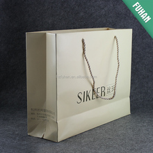 China made wholesale paper shopping bags for clothing