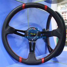 MOMO 350mm Deep Dish Carbon Fiber Racing Car Steering Wheel