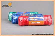 mixed color pp multi solid braided rope