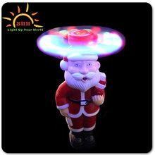 gifts 2015 inflatable christmas decoration Shenzhen wholesale market Santa Claus flashing spinning wand
