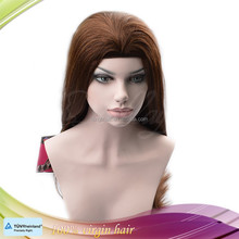 Silky straight long virgin human hair Jewish headband fall wig