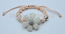 Fashion cute flower woven bracelet one direction wristband LDB0849