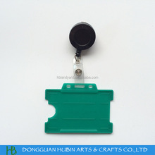 ABS plastic rotation pull reel with PP working id badge