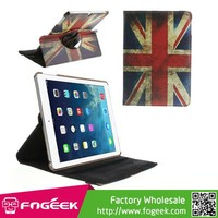 Fast Shipping Retro UK National Flag 360 Swivel Stand Smart Leather Case for iPad Air 5