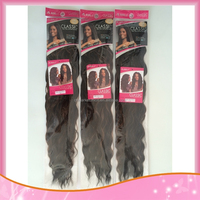 Noble Classic Indian Wave Synthetic Hair Extensions Nautral Wave Hair Weave High Temperature Fiber