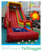 china best price high quality commercial party use red inflatable cheap slide simple water slides with pool for children for fun