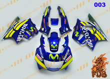 M O V I S T A R blue Aftermarket ABS Injection Molding Fairing Bodywork Cowling Face Cover Bodykit CBR600 F3 95 96