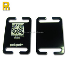 free mould fee slide on collar qr pet tags in aluminum material