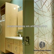 acústico de fibra de vidrio decorativo paneles de pared