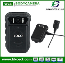 Body cameras which mounting onto a human body with Camera Flash and Flash Light, wide angle camera lens, police dvr recorder