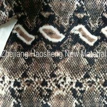 100% Polyester Warp Knit Velboa Fabric Snake Skin Print Fabric for Indonesia Market