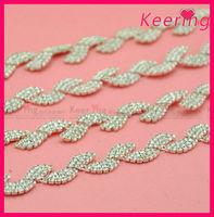 blingbling crystal trimming rhinestone chain in bulk