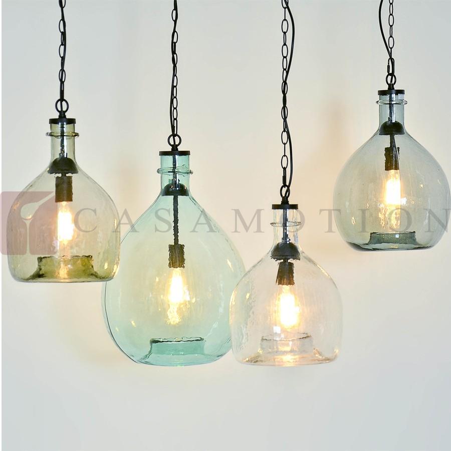Groothandel Casamotion Kleine Blauwe Bal Glas Plafondlamp voor ...