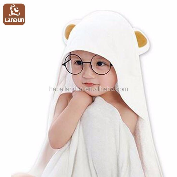 Peri Towels Home Goods: Wholesale Bamboo Fabric Bear Design Baby Hooded Bath Towel