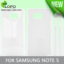 Factory Wholesale 3D Sublimation Blank Cell Phone Case for Samsung Note 5