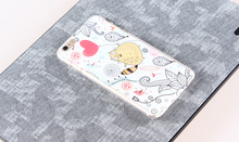 Fashion color drawing hard plastic PC mobile phone case for Iphone 6plus