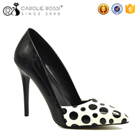 latest girl footwear design rubber outsole pu ladies cut shoes