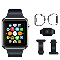 2015 new arrival A1 smart watch phone with NFC/camera/SIM card slot/bluetooth Sync