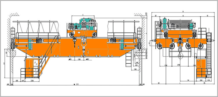 QDY / YZ Type Electric Double Beam Steel Water Crane