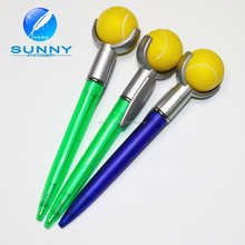 logo customized cute tennis ball pen for promotion