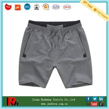 Custom breathable cotton polyester blend mens gym shorts with pocket