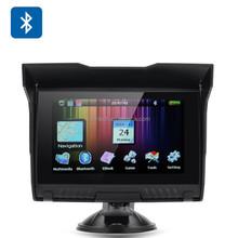 Racing GPS Waterproof 5 Inch Screen Motorcycle GPS Navigatior Bluetooth Handsfree Free Map Installed Altitude