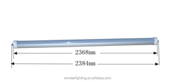 Double Power input 8 foot t8 led tube with single pin