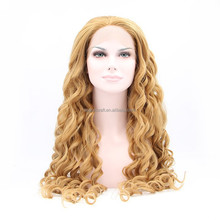 2015 natural curly cheap heat resistant lace front synthetic wig