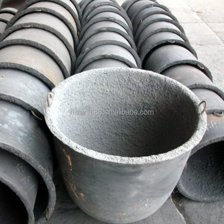 Cast iron steel crucible for casting machine melting lead