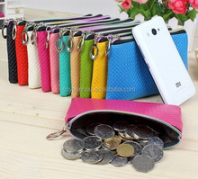 wholesale colors zipper coin pouch mobile phone bag for promotional gfits