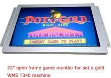 "22""(16:9) 3M with bezel POG WMS touch lcd monitor gaming touch monitor POG/WMS/T340/FOX340 CGA DVI"