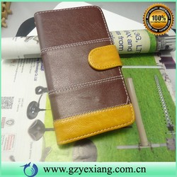 New Coming Color leather flip case for samsung galaxy e7