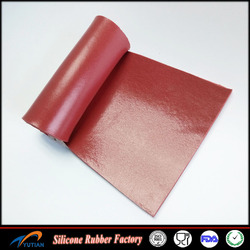 High quality silicone sponge rubber roll red color
