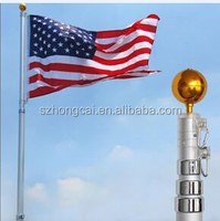 2.5m/3.5m/4.5m Hot Sale Aluminum Telescopic Flag Pole for outdoor use