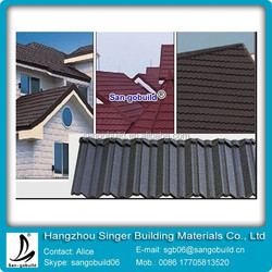 2015 High Quality Stone Coated Metal Roof Tile For Construction Materials